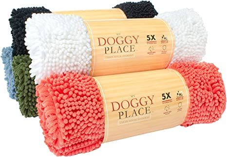 Keep Your House Clean Durable Washable Sizes: Medium, Large, X-Large Runner, Hallway Runner, Half Moon My Doggy Place Quick Drying Prevent Mud Dirt Ultra Absorbent Microfiber Dog Door Mat
