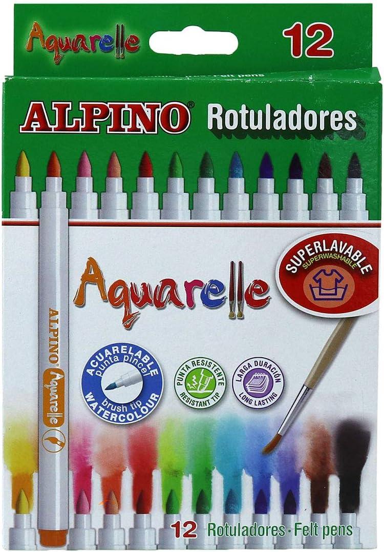 Alpino AR000160 - Estuche 12 rotuladores: Amazon.es: Oficina y papelería