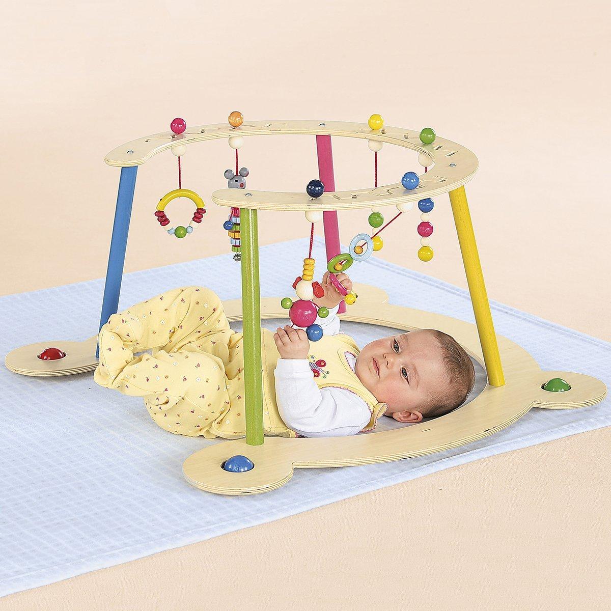Hess Baby Spiel- und Lauflerngerät/Spielbogen aus Holz/Lauflernwagen ab 6 Monate/Höhe: 32 cm HESS SPIELZEUG