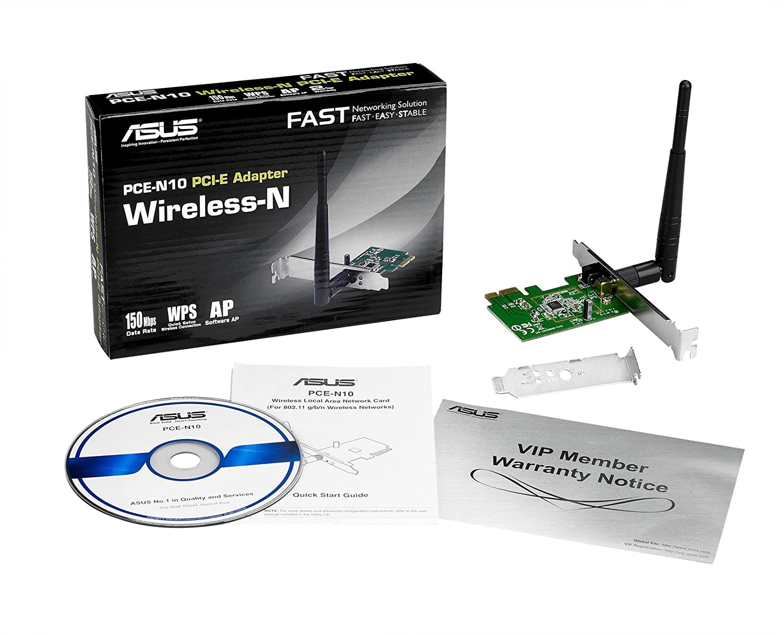 ASUS PCE-N10 WIRELESS-N NETWORK ADAPTER TREIBER WINDOWS 10
