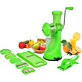NKE Steel Handle Juicer and Vegetable Cutter Kitchen Combo, Green