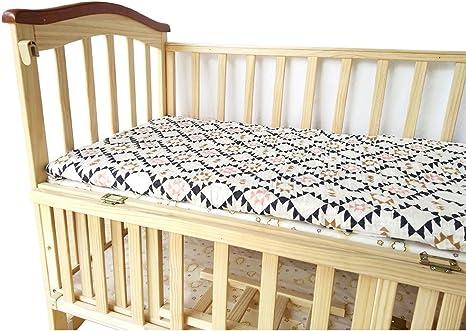 Bebé cuna sábana bajera – 100% muselina de algodón, extra suave ...