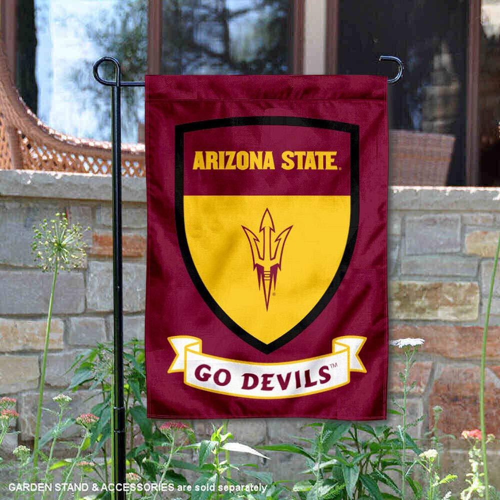 Arizona State Sun Devils Crest Shield Garden Flag and Banner