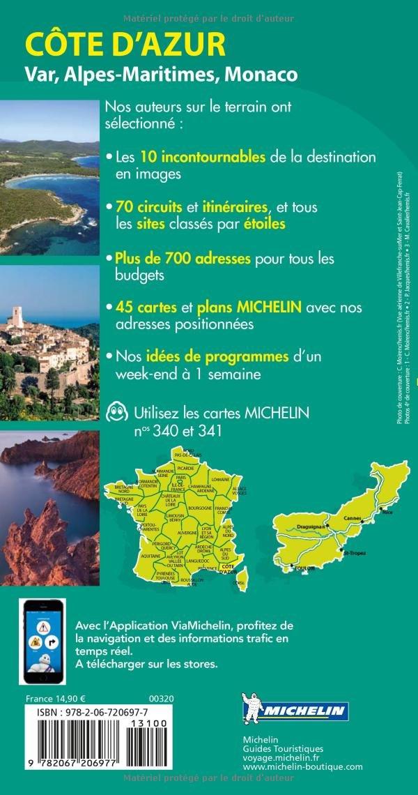 Guide vert côte d'azur, monaco michelin broché collectif.