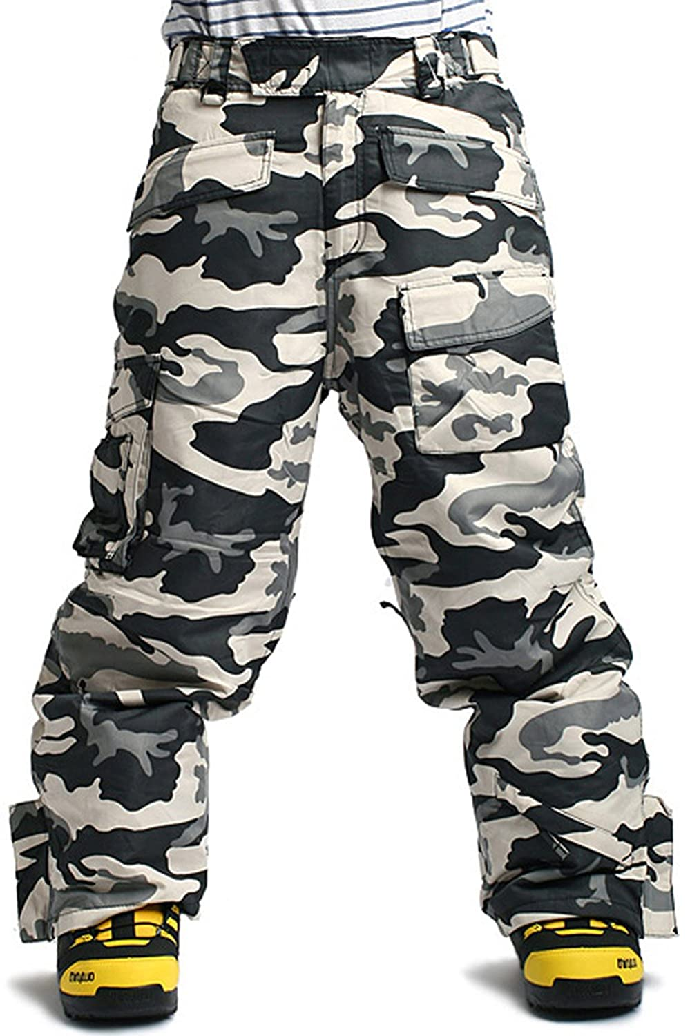 SOUTH PLAY Mens Premium Waterproof Ski SnowBoard Wear Pants Trousers CAMO