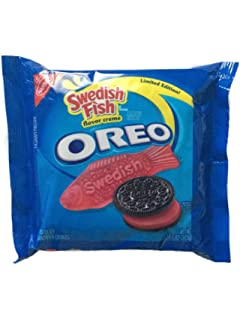 Limited Edition Swedish Fish Oreo Sandwich Cookies, 10.7 OZ