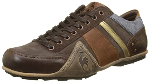 lekker goedkoop op groothandel schoenen voor goedkoop Le Coq Sportif Men's Turin Leather/Chambray Trainers, Brown ...