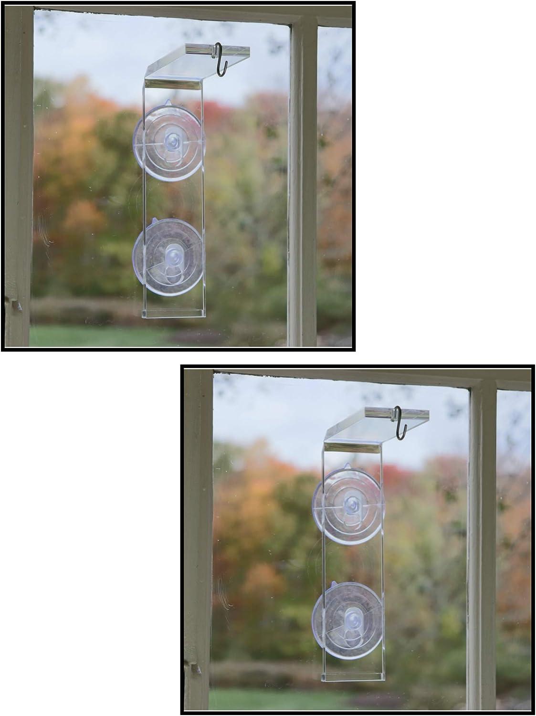 Window Garden Veg Dangler Suction Cup Window Hanger – Bird Feeder Holder, Indoor Plant Hanger, Wind Chimes, Ornaments, Flower and Herb Pots, Terrarium, Air Plants, Suncatchers (2 Pack)