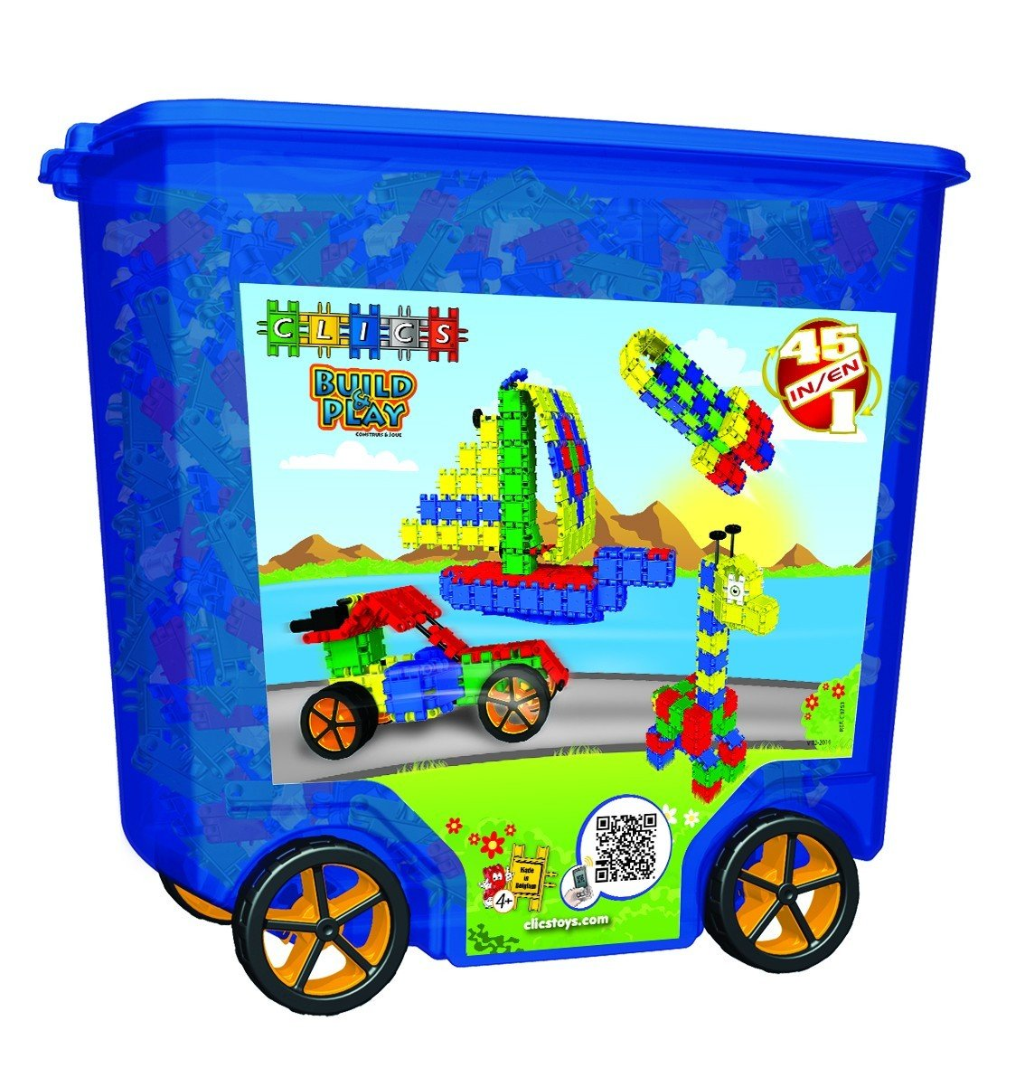 BIG Wheels Clics Rollerbox Building Toy 700 Pieces