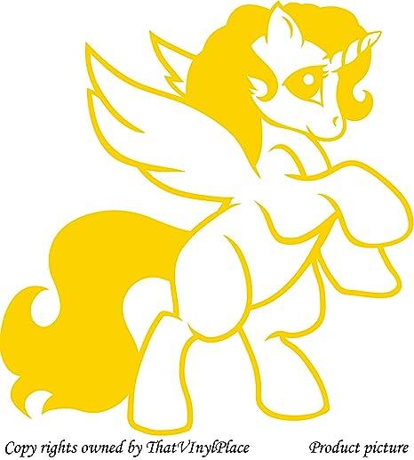 My Little Pony, unicorn Stickers 60 cm x 57 cm Colour Yellow Disney ...