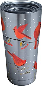 Tervis Cardinals Stainless Steel Insulated Tumbler with Lid, 20 oz, Silver