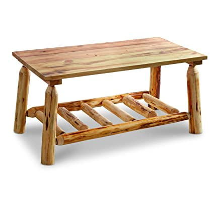 Amazoncom CASTLECREEK Log Coffee Table Kitchen Dining