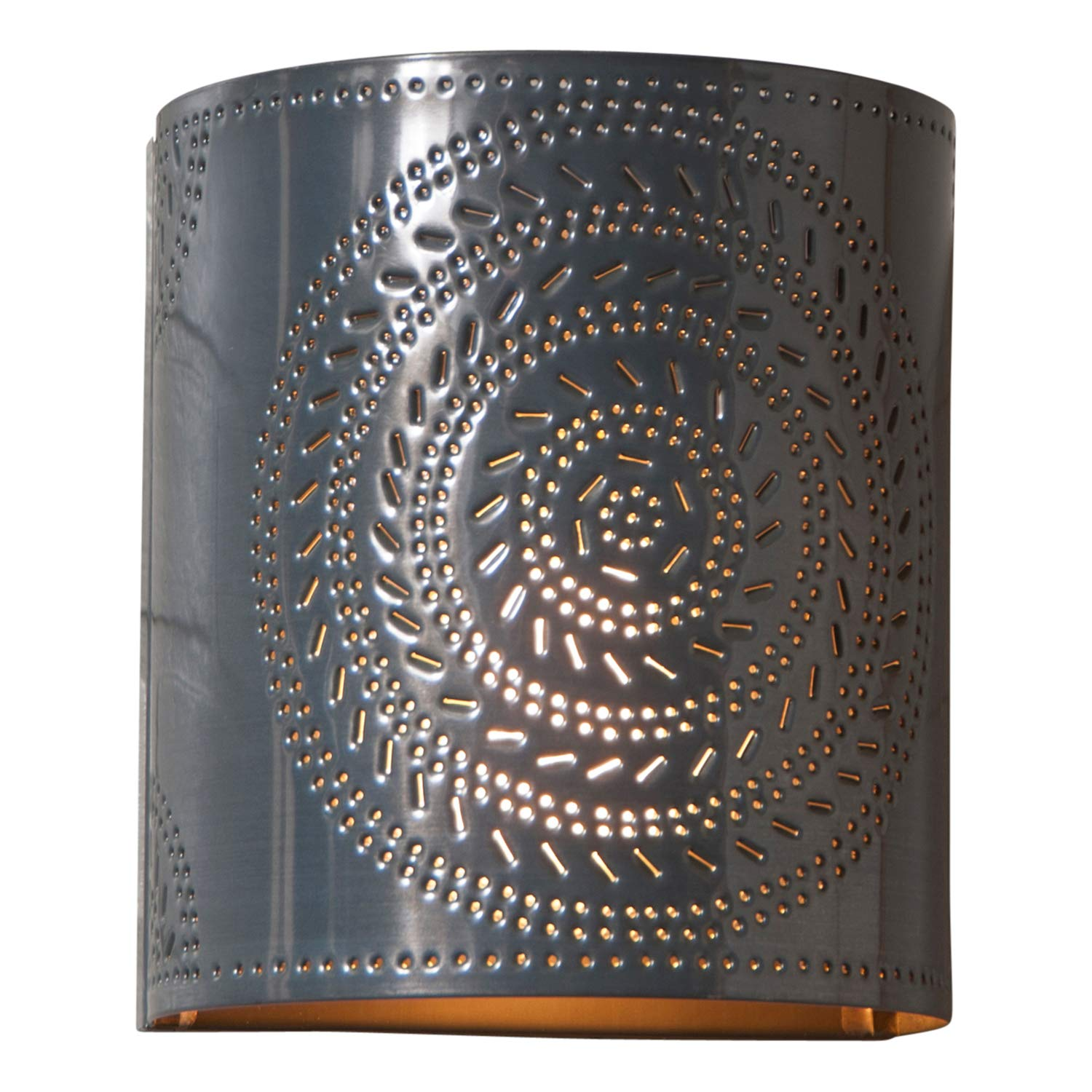 Chisel Sconce Light in Country Tin, wired