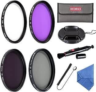BESCHOI - 67mm Filtro de Camára Lente, Packs de Filtros Fotográficos para Canon EOS DSLR Cámaras (9 PCS Incluye UV CPL FLD ND4 +Aceesorios): Amazon.es: Electrónica