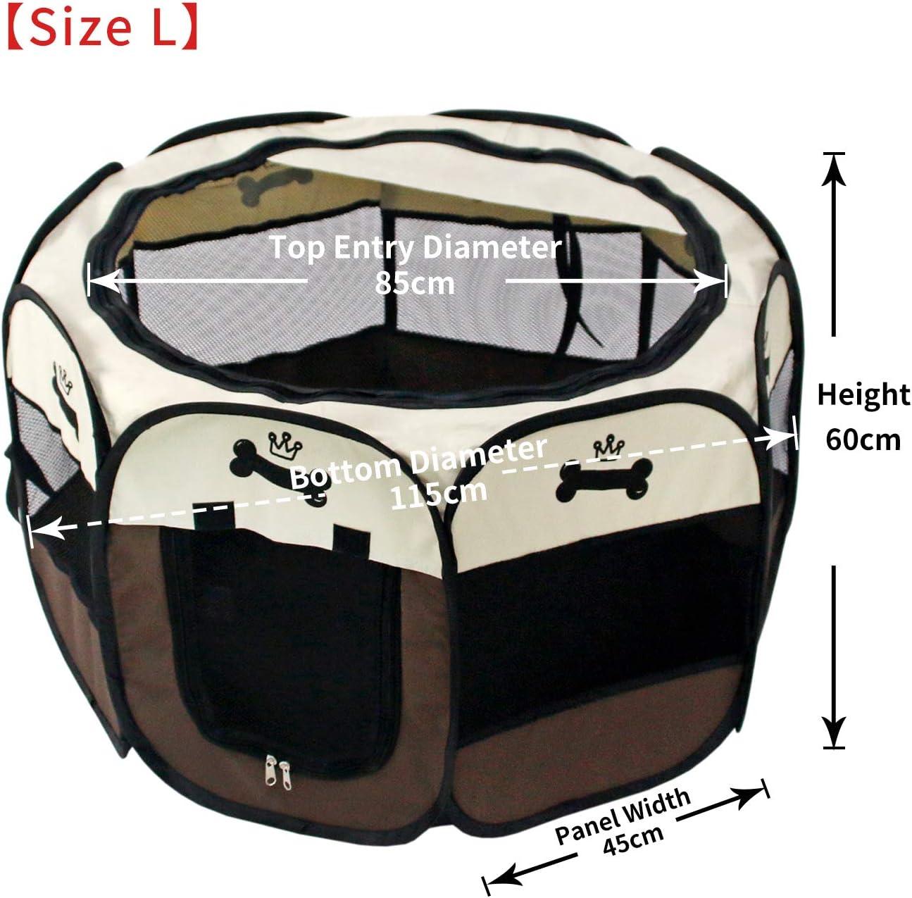 Perro//Gato//Conejo YOOBE Pet Portable Plegable Plegable Valla de Transporte y Recipiente de Viaje Plegable Parasol extra/íble Uso Interior//Exterior Medio Impermeable 95 x 95 x 57cm
