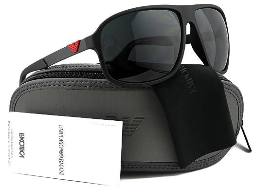 Amazon.com: Emporio Armani ea4029 Gafas de sol Negro w/gris ...