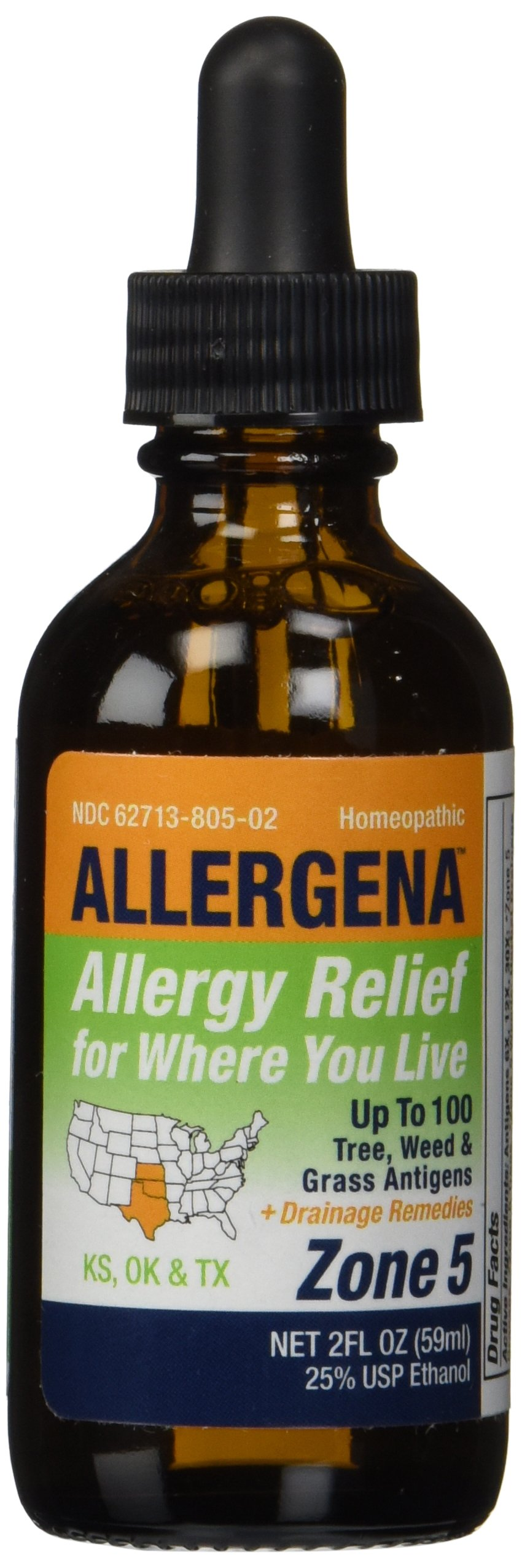 Allergena - Allergy Relief Drops Zone 5-2 Ounce