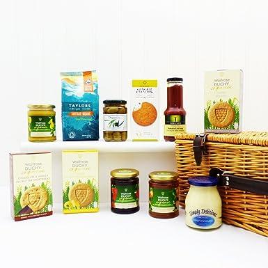 Mimbre Cesta de Alimentos Orgánicos - Ideas de Regalos Para - Navidad, cumpleaños, boda