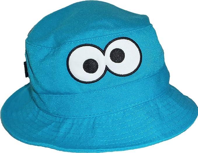 Amazon.com  Sesame Street Cookie Monster Eyes Toddler Bucket Cap UPF ... c0c816a528c1