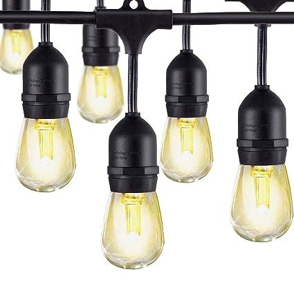 LED Outdoor String Lights, AKAPH Heavy Duty Commercial Weatherproof ...