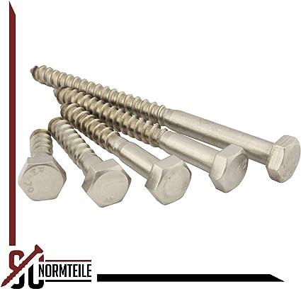 10x100 mm - Schl/üsselschrauben Holzbauschrauben Sechskant Holzschrauben - DIN 571 25 St/ück Edelstahl A2 V2A SC571