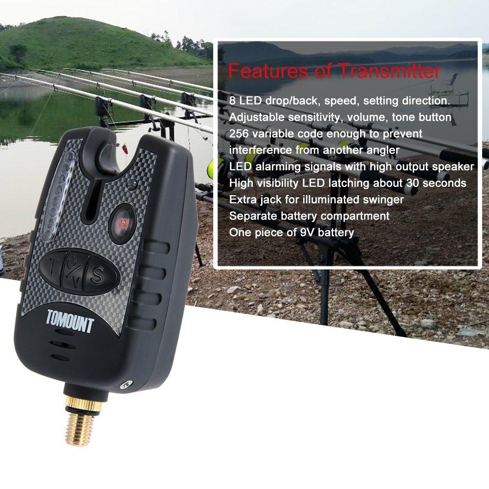 g8ds/® Bissanzeiger VX-1 inkl Tasche elektronischer Beissalarm Bissmelder Bite Alarm Lautst/ärkeregulung