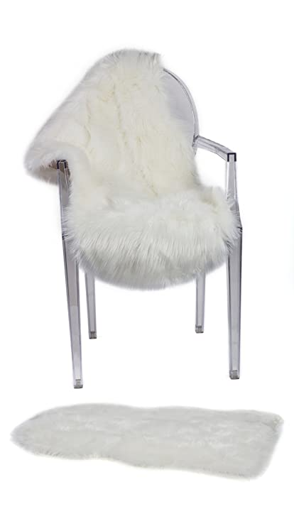 Amazon.com: Super Soft Sheepskin Rug By CUSHIMAX - Excellent Quality ...