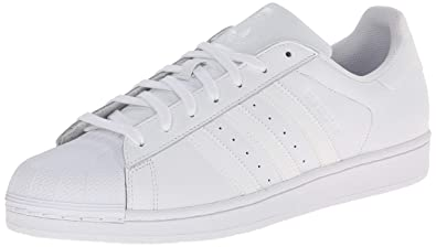 sports shoes 2d63f b3dd1 adidas Originals Mens Superstar Foundation Casual Sneaker, WhiteRunning  WhiteWhite, 14.5