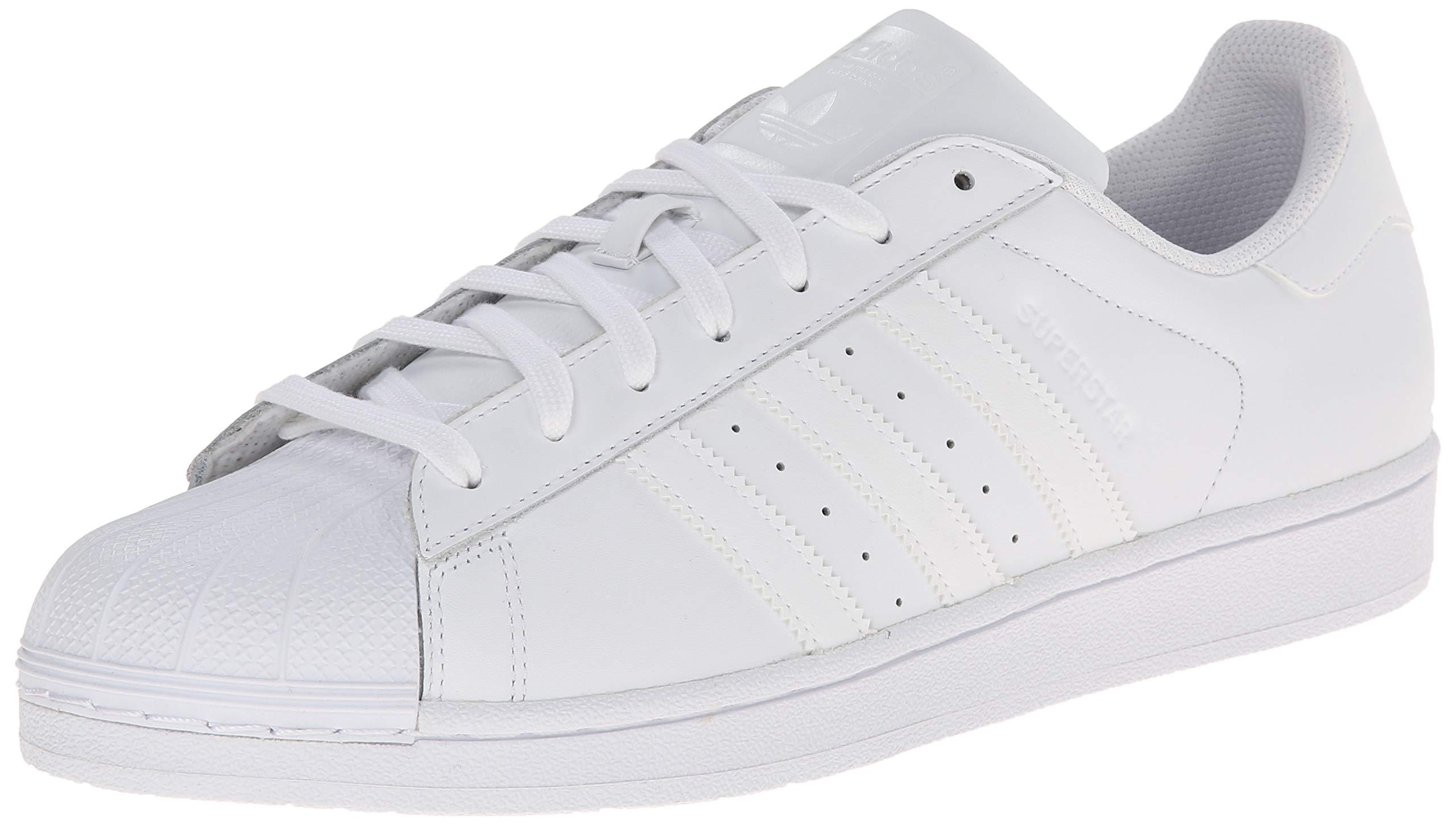 d743332224dc3 adidas Originals Men's Superstar Foundation Casual Sneaker, White/Running  White/White, 7.5 D(M) US