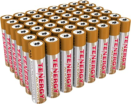 Amazon Com Tenergy 1 5v Aaa Alkaline Battery High Performance Aaa Non Rechargeable Batteries For Clocks Remotes Toys Electronic Devices Replacement Aaa Cell Batteries 48 Pack Electronics