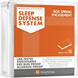 The Original Sleep Defense System - PREMIUM Zippered Bed Bug & Dust Mite Proof Box Spring Encasement & Hypoallergenic Protector - 38-Inch by 75-Inch, Twin