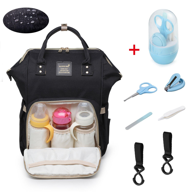 a4c8b32b5f694 Baby Wickelrucksack Wickeltasche mit 2 Kinderwagenhaken - Multifunktion  wasserfeste Oxford Babytasche - Groß Kapazität Isoliert Taschen