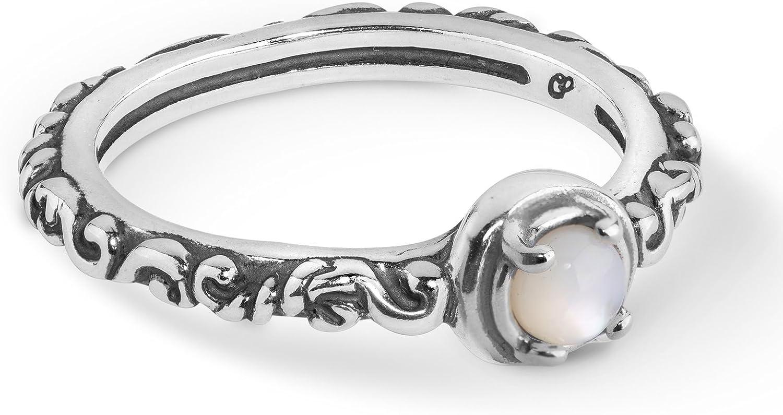 Carolyn Pollack Sterling Silver Gemstone Single Round Stone Band Ring Choice of Gemstones