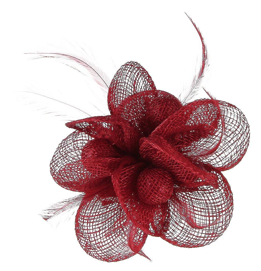 Lukis Mini Hut Damen Fascinator Haar Clip Haarschmuck Haarspange f/ür Kost/üm Karneval Fasching Durchmesser 9cm