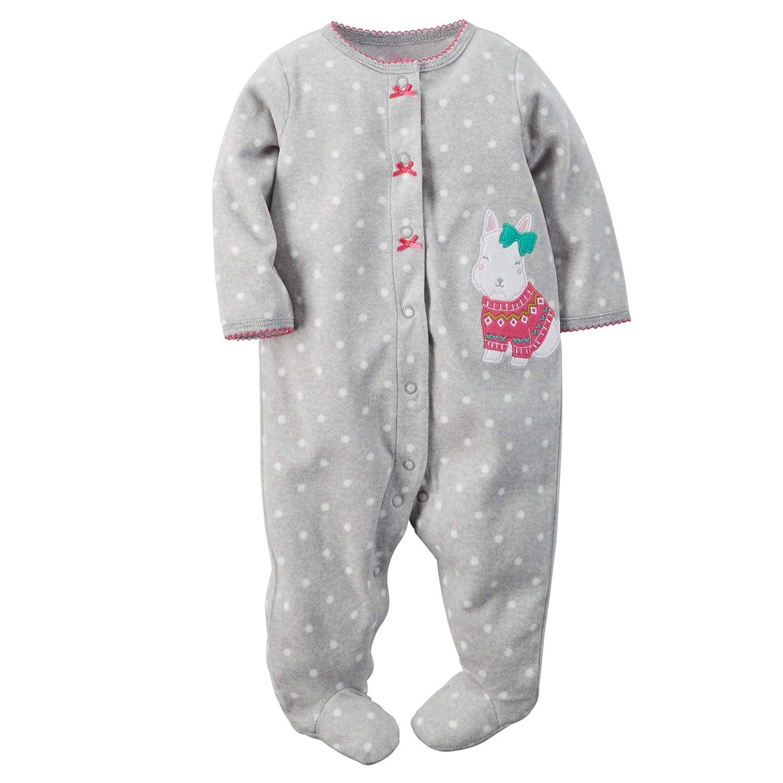 48b9d9c9f22 Amazon.com  Newborn Infant Footed Pajamas Romper Long Sleeve Jumpsuit  Bodysuit Sleepwear  Clothing