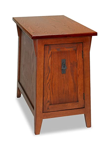 Amazoncom Leick Favorite Finds Mission Cabinet End Table Russet