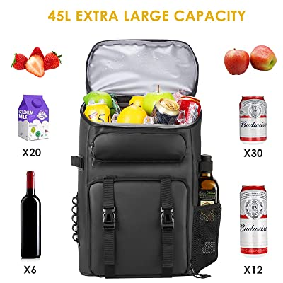 Large Capacity Backpack Cooler Insulated Lunch Storage Bag Picnic Sack Pack