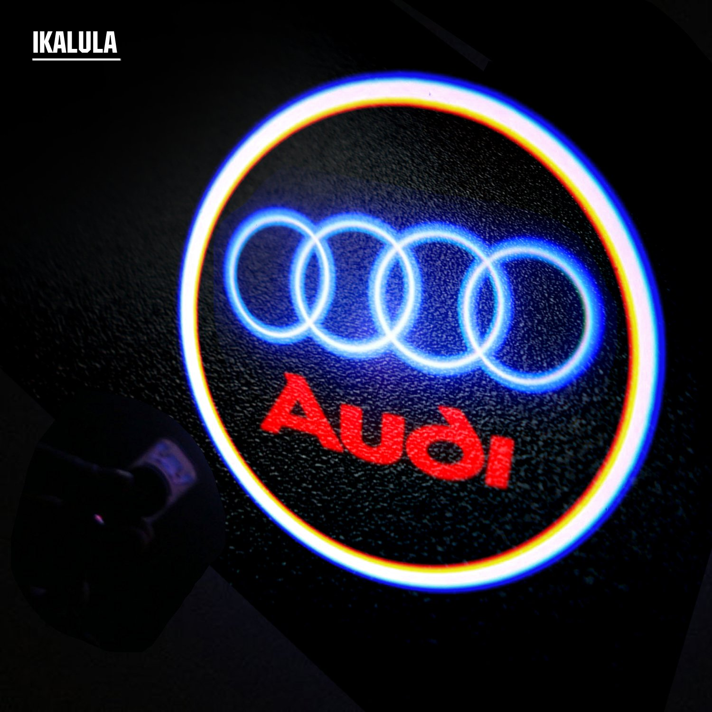 652323mm iKALULA VanAudi4 0303logo 4 St/ück Transparent Auto Logo T/ürbeleuchtung