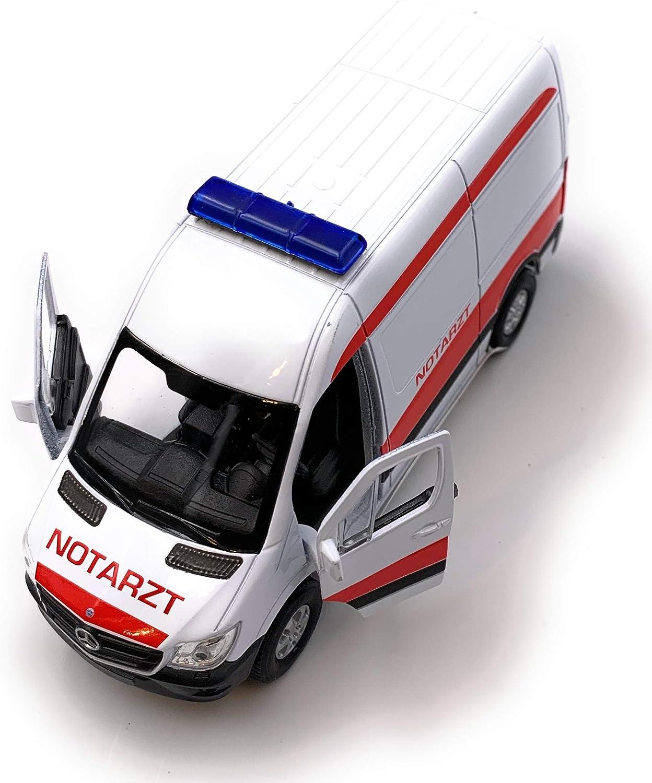 H Customs Mercedes Benz Sprinter Notarzt Panel Van Modellauto Auto Lizenzprodukt 1 34 1 39 Auto