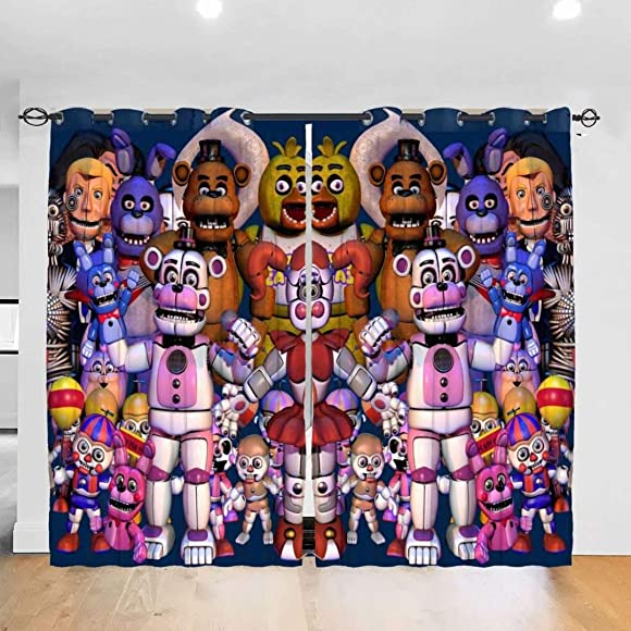 KRISMARIO Family Five Nights at Freddy's Blackout Curtains