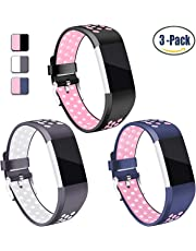 for Fitbit Charge 2 Band, Hotodeal Classic Soft TPU Adjustable Bands Fitness Sport Strap for Fitbit Charge 2, Small Large
