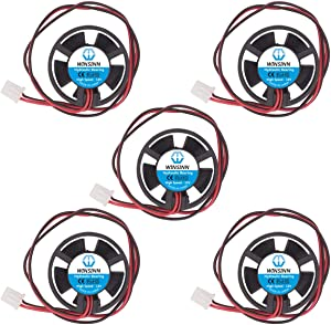 WINSINN 30mm Round Fan Circle 12V Hydraulic Bearing Brushless 3010 31.5x10mm for DIY Mini Cooling Pipeline/Notebook - High Speed (Pack of 5Pcs)