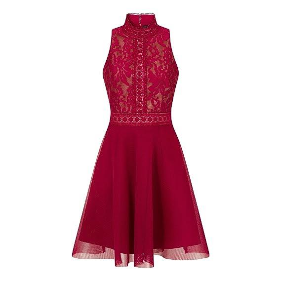 Little Mistress Womens/Ladies Berry Baroque Prom Dress (14) (Berry ...