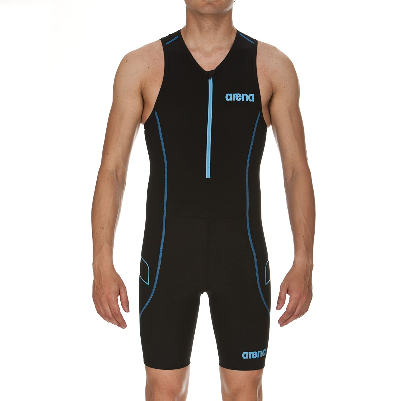 Turchese Arena Triathlon Uomo Powerskin ST con Cerniera Frontale Nero