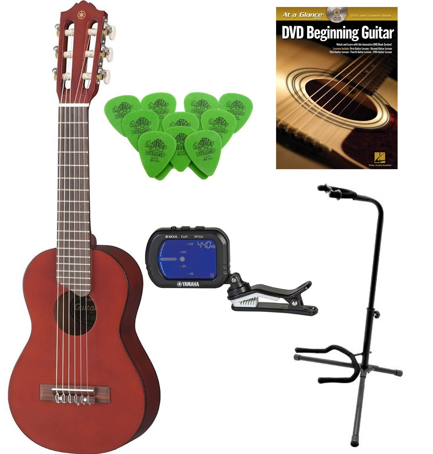 yamaha gl1pb mini 6 string nylon guitalele persimmon