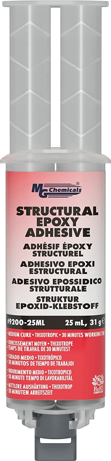 MG Chemicals 9200 Structural Epoxy Adhesive 25 milliliters Dual Dispenser 9200-25ML