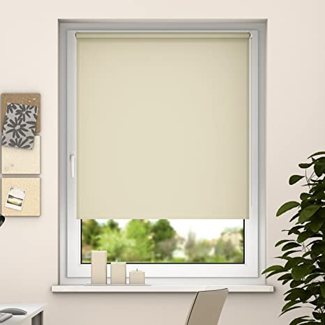 Seitenzugrollo 60x160 creme Tageslichtrollo Klemmfix ohne Bohren Sonnenschutz