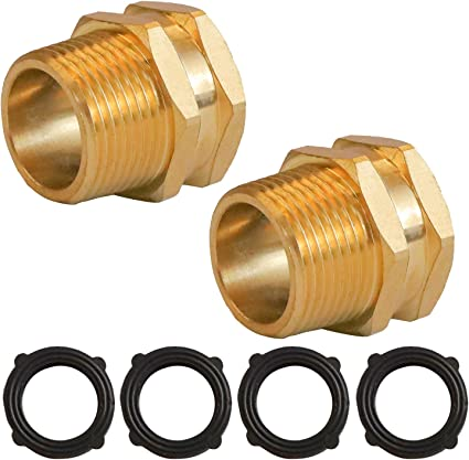 3//4 GHT Female X 1//2 NPT Male Connector,GHT Pipe 2pcs Brass Garden Hose Adapter