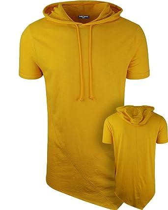 7c7147686ea2 Amazon.com: ShirtBANC Mens Hipster Hip Hop Long Drop Tail T Shirts Hooded  Pyramid Cut: Clothing