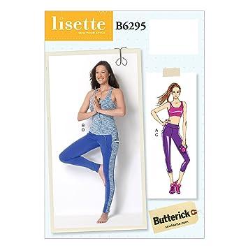 Butterick 6295 A5 Größen 6–14 Schnittmuster BH-Top/Top und Leggings ...